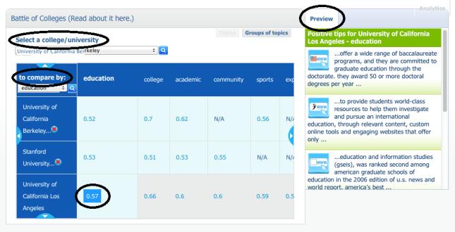 Battle of Colleges Widget UPDATE - Screenshot
