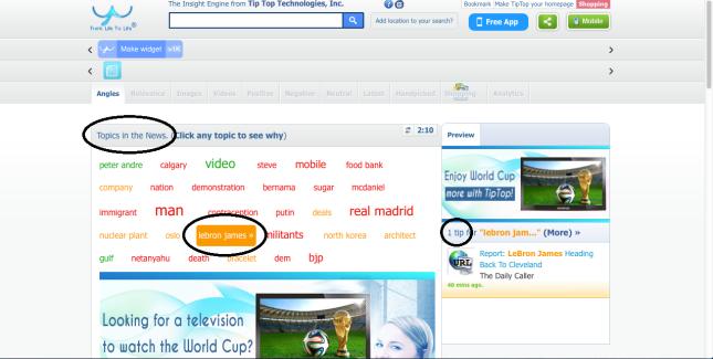 FeelTipTop Home Page Screen Shot